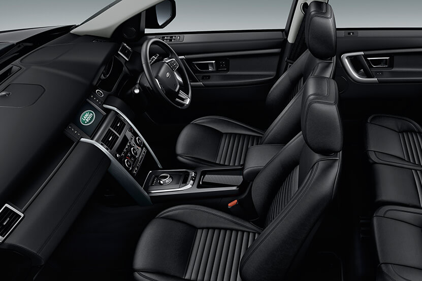 Interior of Land Rover Discovery Sport