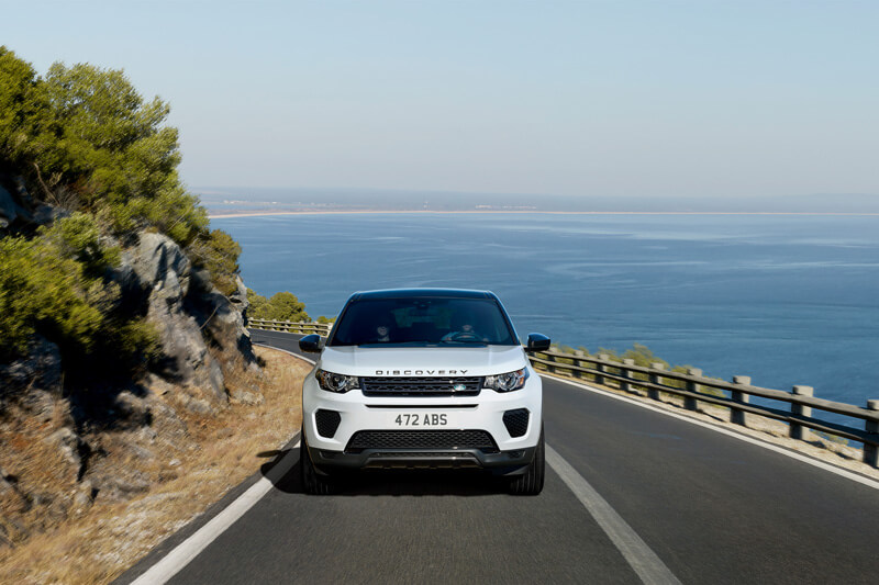 Land Rover Discovery Sport rental on a road trip