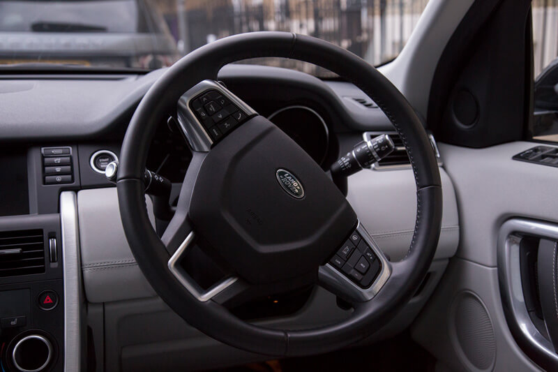 Driving seat view of Land Rover Discovery Sport